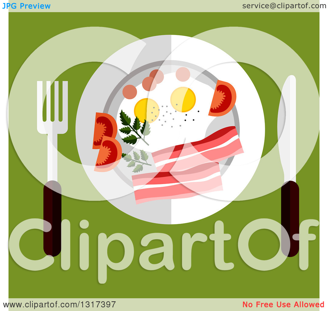 Flat explore pictures. Bacon clipart breakfast plate