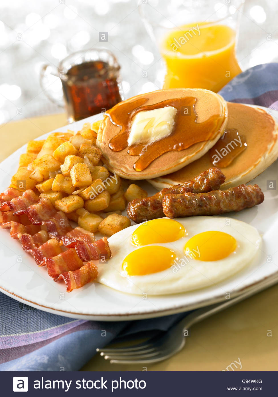 Bacon clipart breakfast plate.  collection of pancakes