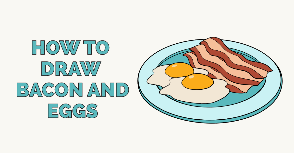 How to draw and. Bacon clipart breakfast time