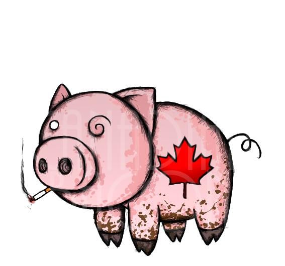 By kinzokuenjeru on deviantart. Bacon clipart canadian bacon