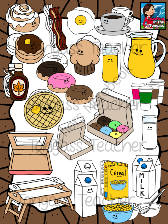 Bacon clipart carton. Breakfast buddies bundle from