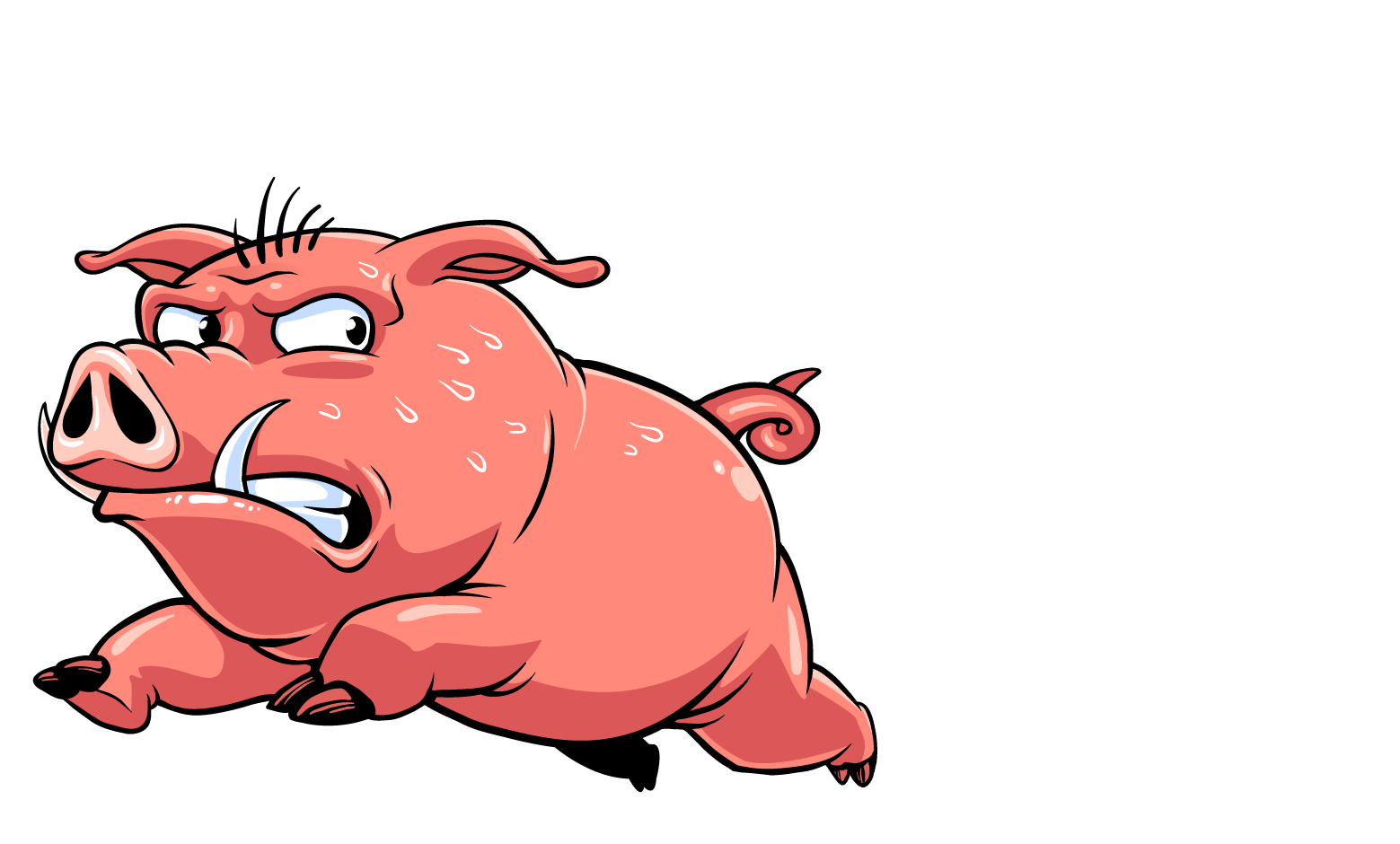 Bacon clipart character. Rendy the run logo