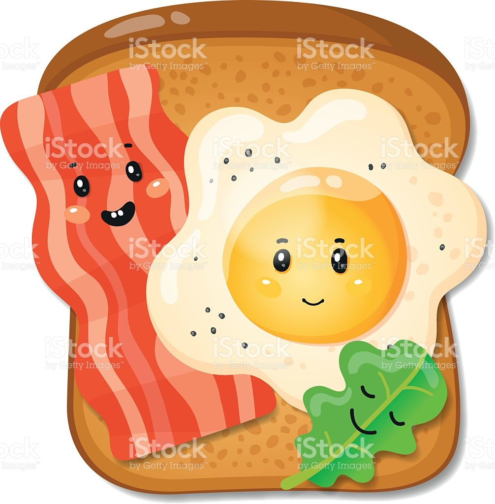 Toast pencil and in. Bacon clipart character