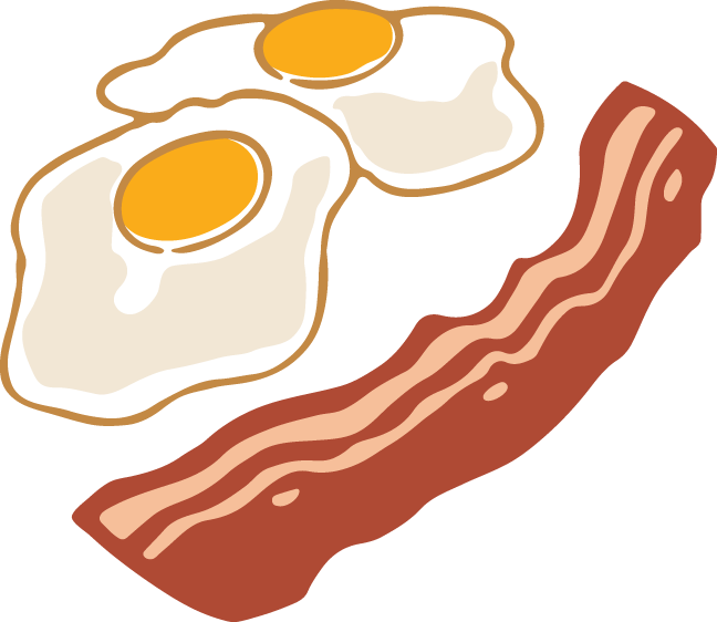bacon egg images. Clipart box eggs