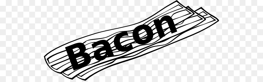 Book black and white. Bacon clipart coloring page