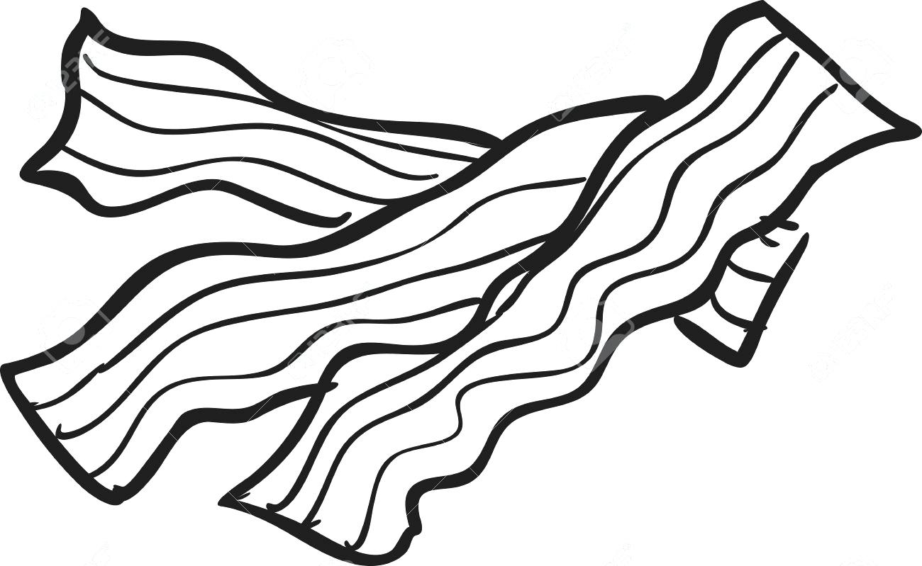 Bacon clipart coloring page, Bacon coloring page ...