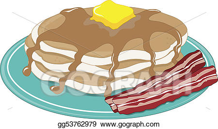 Drawing pancakes gg gograph. Bacon clipart cooked bacon