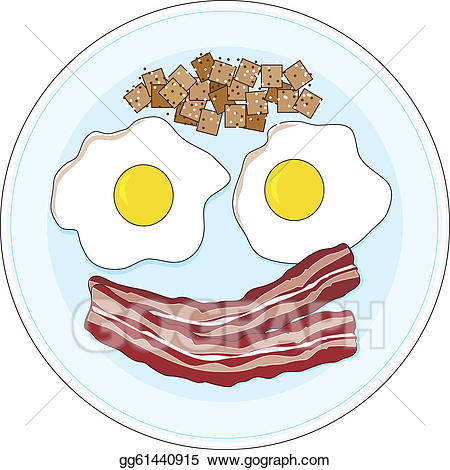 Bacon clipart egg dish. Eps illustration and eggs