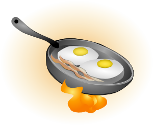 Humbliceous eggs and heres. Bacon clipart egg dish