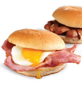 Bacon clipart egg roll. Sayers the bakers products