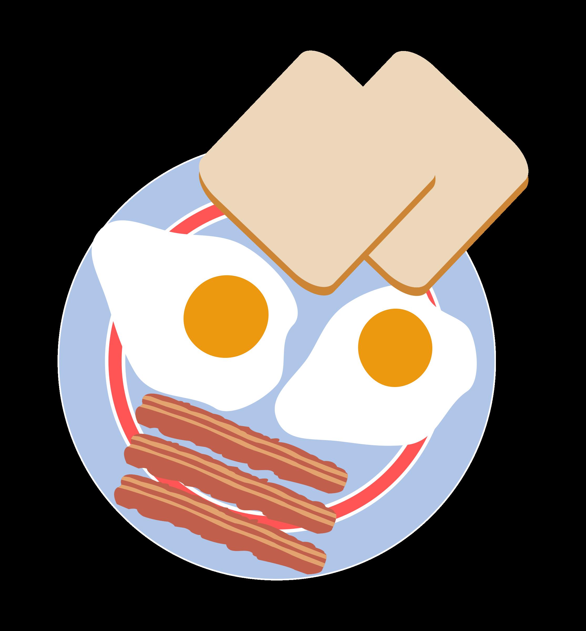 Bacon clipart egg toast. Bull s eye eggs