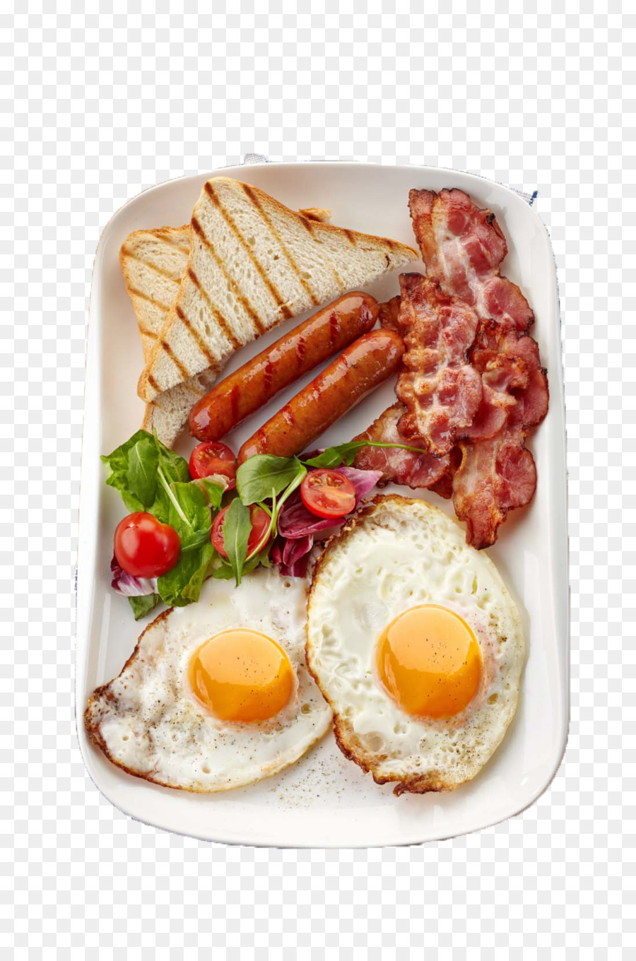 Sausage breakfast fried delicious. Bacon clipart egg toast