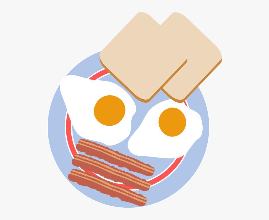Clip art eggs and. Bacon clipart egg toast