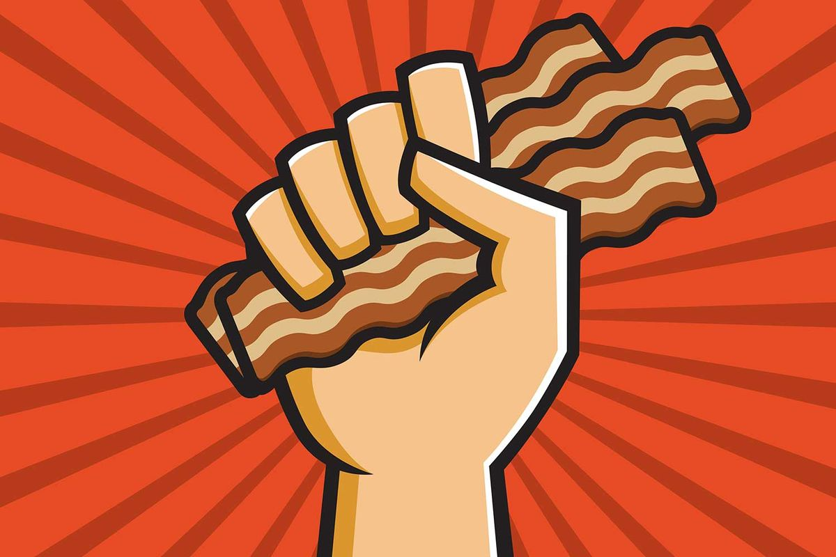 Bacon clipart emoji. An update comes with