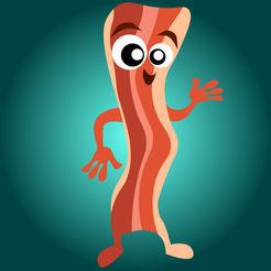 Baconmoji mouth watering stickers. Bacon clipart emoji