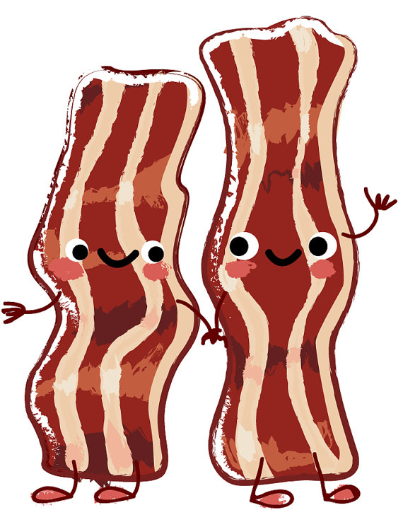 Bacon clipart food. Digital download breakfast treats