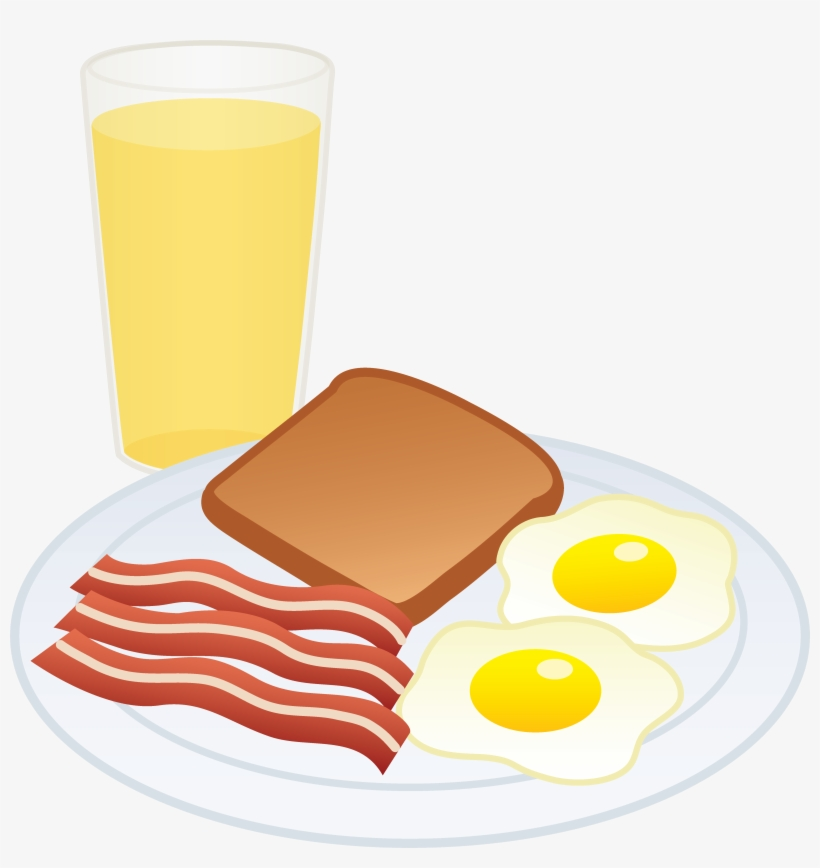 Of breakfast eggs and. Bacon clipart fried egg