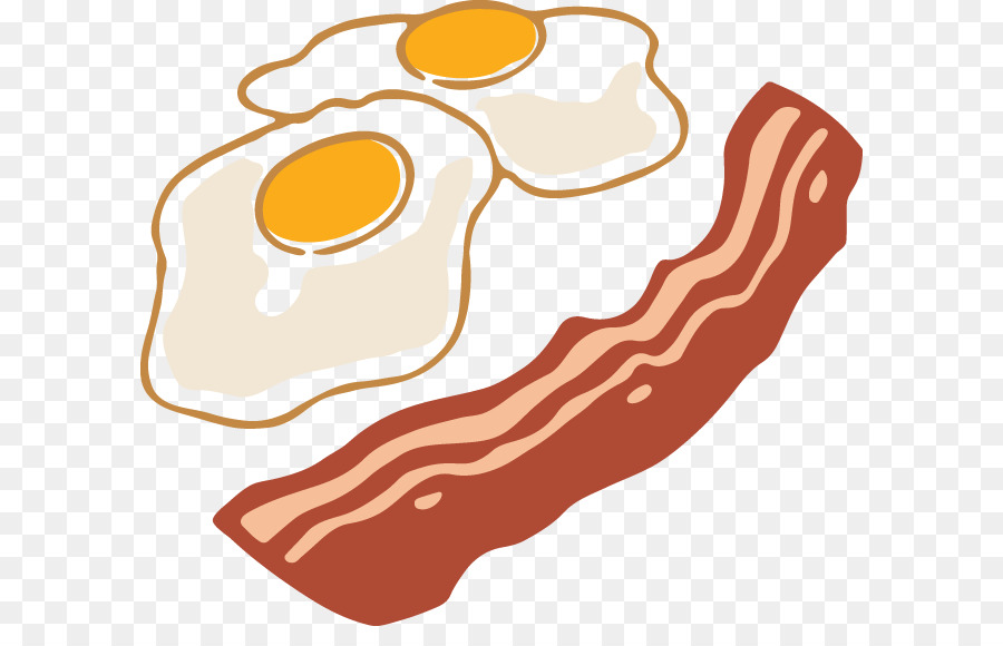 Bacon clipart fried egg. Cheese cartoon food transparent