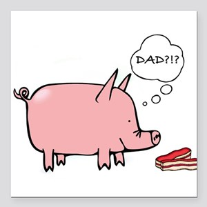 Dad car magnets cafepress. Bacon clipart micro pig