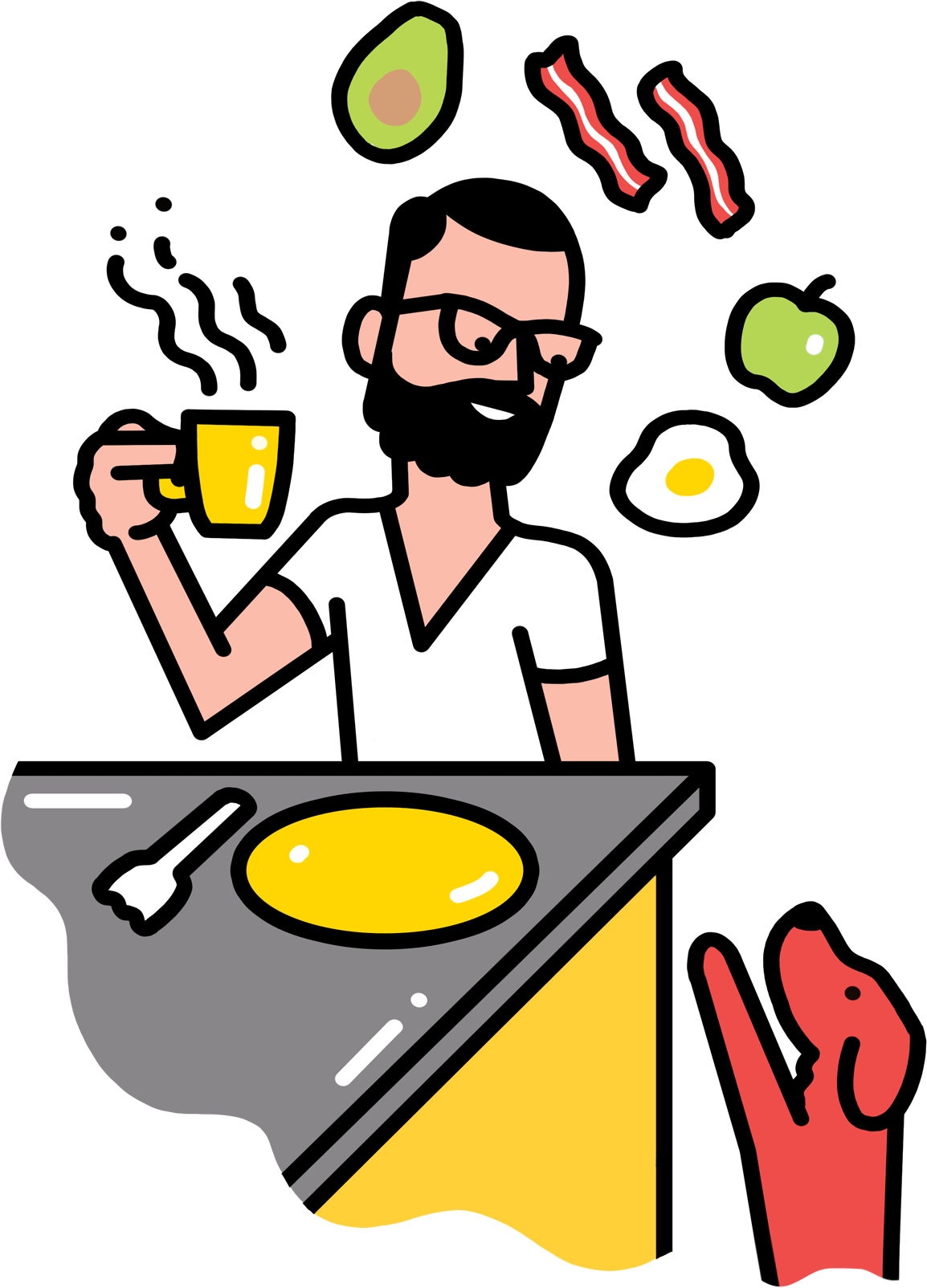 How to live like. Cooking clipart breakfast