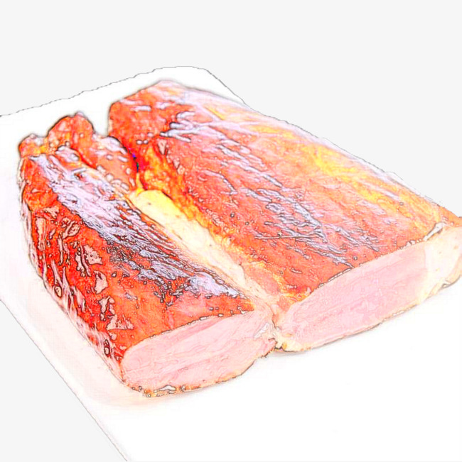 Bacon clipart pink food. Hand painted png image