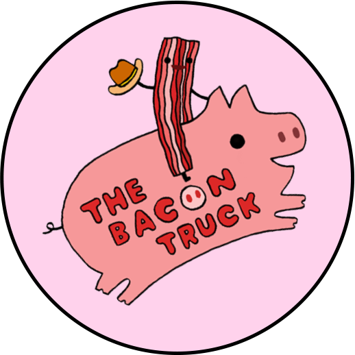 Bacon clipart pink food. Tbt round logo png