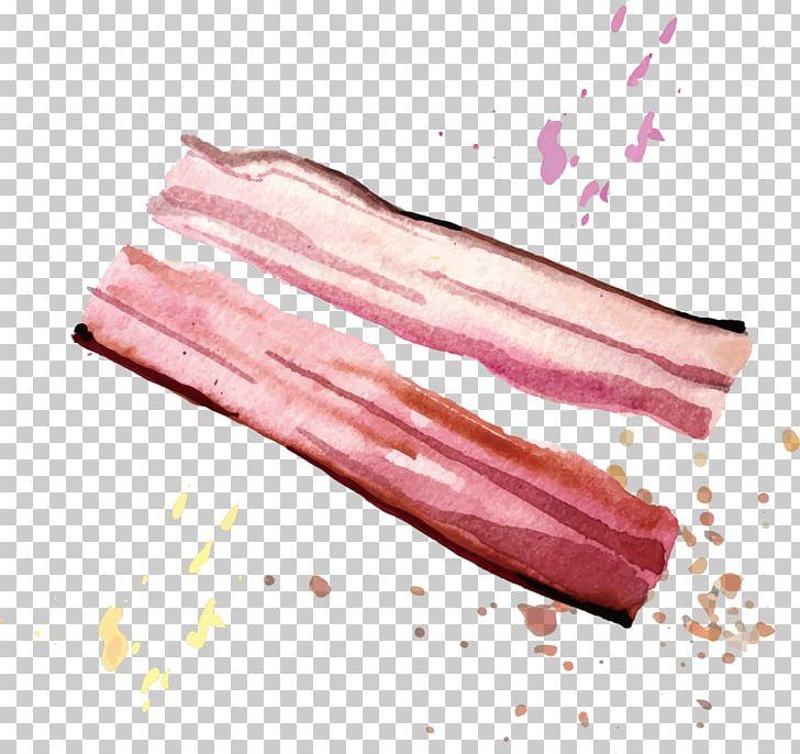 U e fbreakfast fried. Bacon clipart pink food