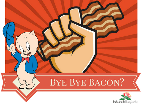 Bacon clipart processed meat. Bye carcinogens harbourside chiropractic