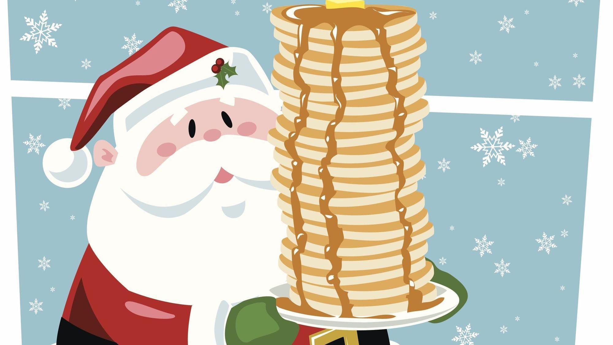 Bacon clipart santa breakfast. Dine with at these