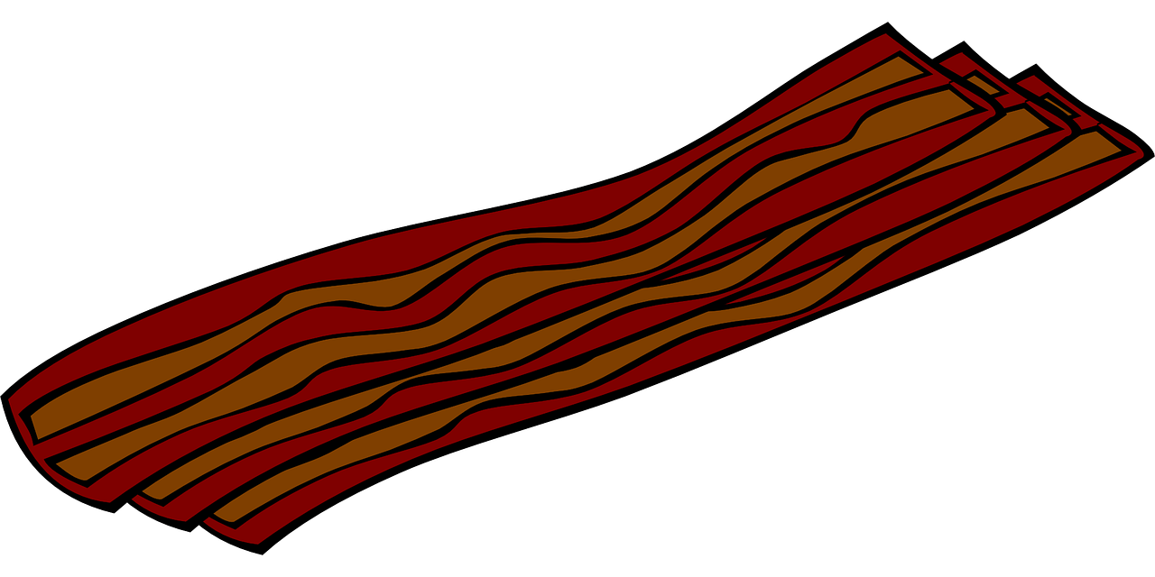 Bacon clipart sliced. Slices food pork png