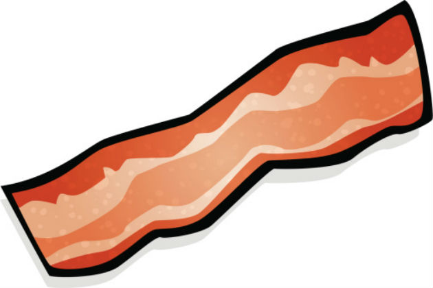 Free slice cliparts download. Bacon clipart sliced