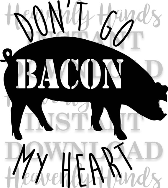 Don t go my. Bacon clipart svg
