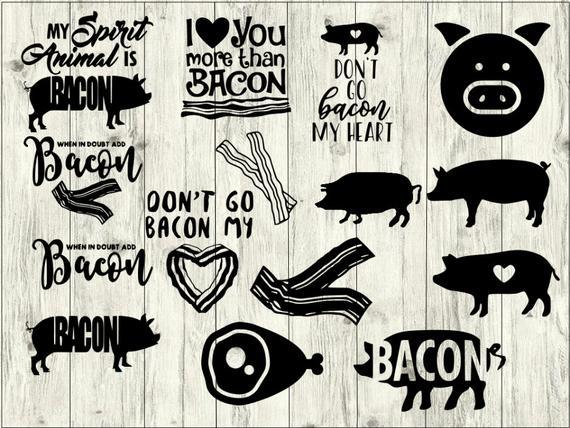 Bacon clipart svg. Bundle pig cut file