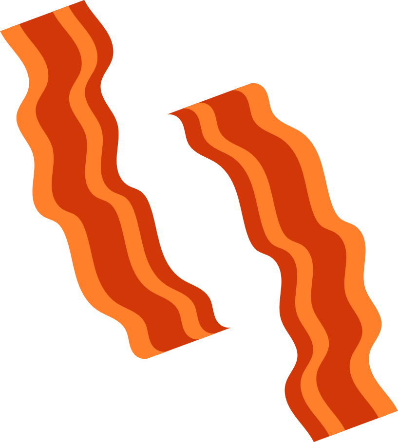 Png free download best. Bacon clipart vector