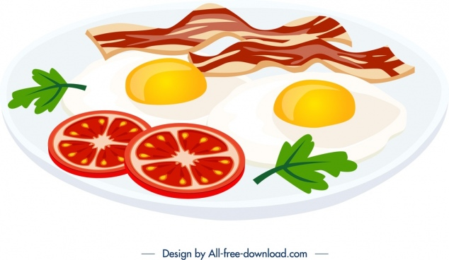 Bacon clipart vector. Free download for commercial