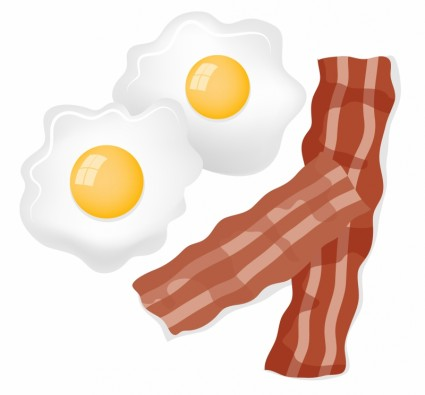 And eggs drawing at. Bacon clipart vector