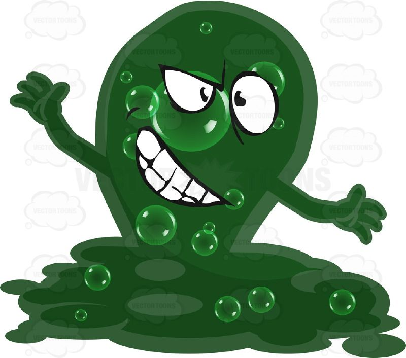 Sick virus vector stock. Bacteria clipart angry