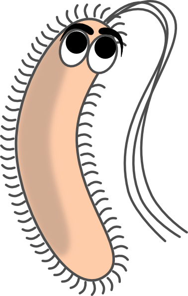 Modified funny clip art. Bacteria clipart animated
