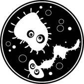 Cartoon germs stock illustrations. Bacteria clipart bacterial culture