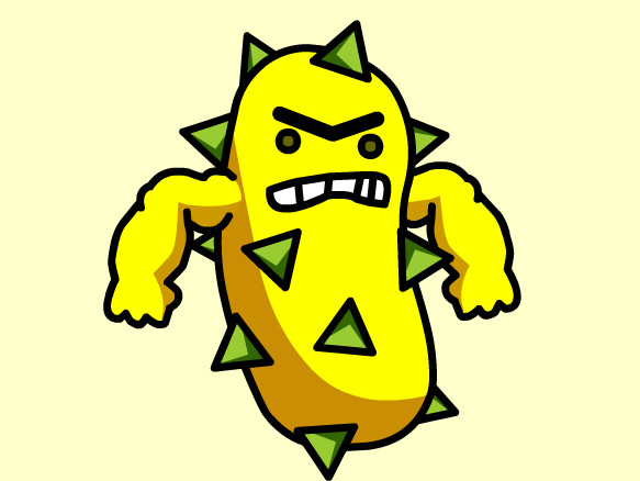 Strong pencil and in. Bacteria clipart evil