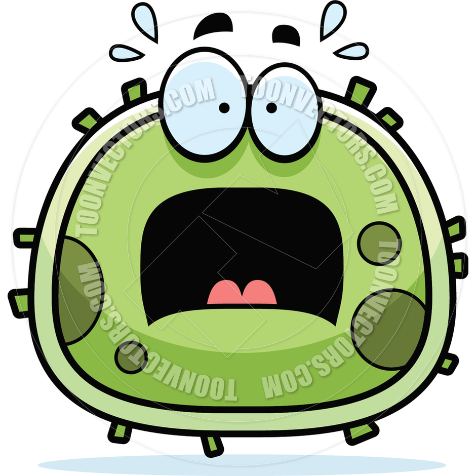 Scared pencil and in. Bacteria clipart evil
