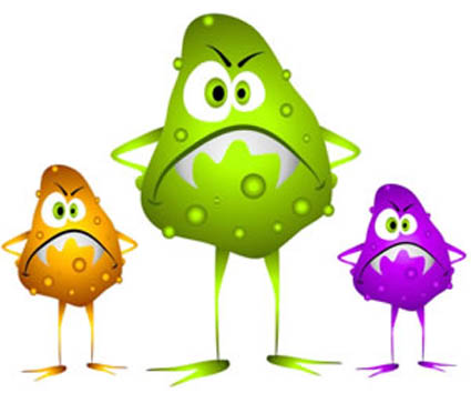. Bacteria clipart food poisoning