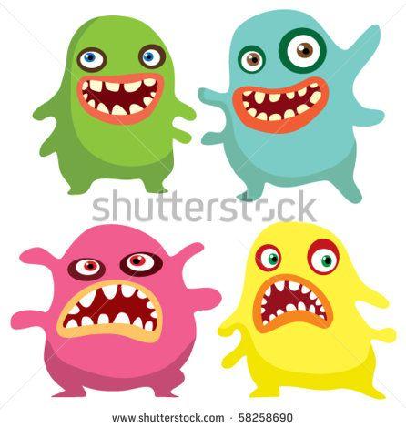 Virus vector cartoon clip. Bacteria clipart germ