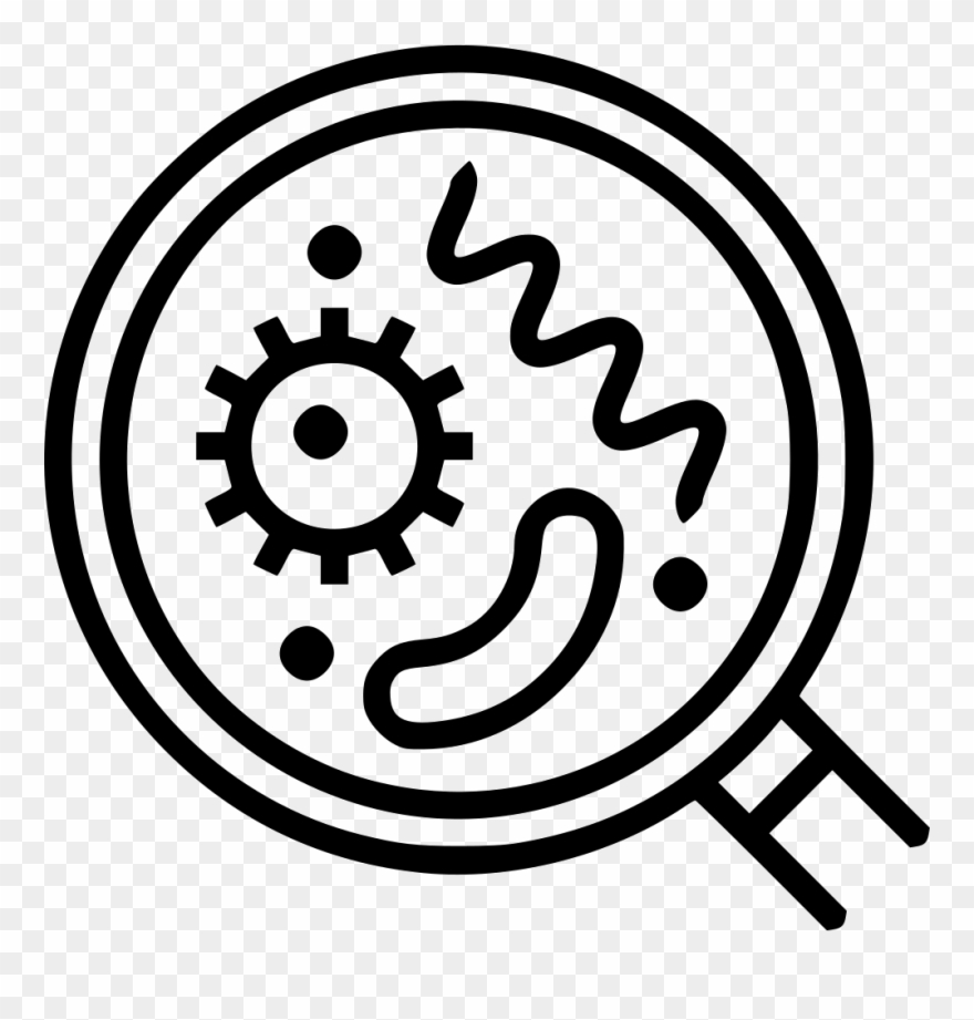 Bacteria clipart icon. Png and viruses svg