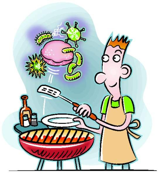 Bacteria clipart lab safety. Eat safe this summer
