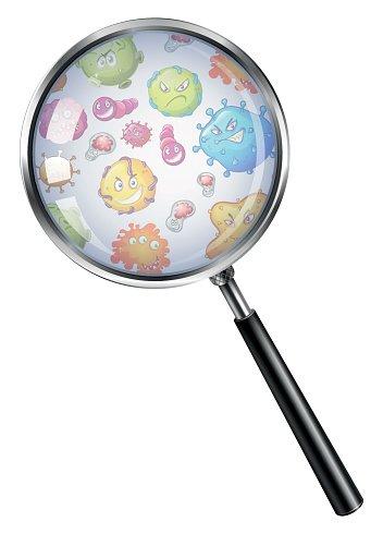 Through premium . Bacteria clipart magnifying glass