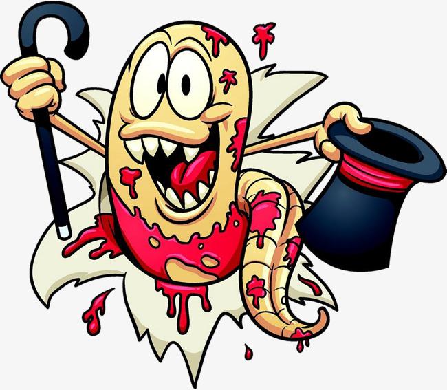 Bacteria clipart parasitic. Cartoon parasite bacterial png