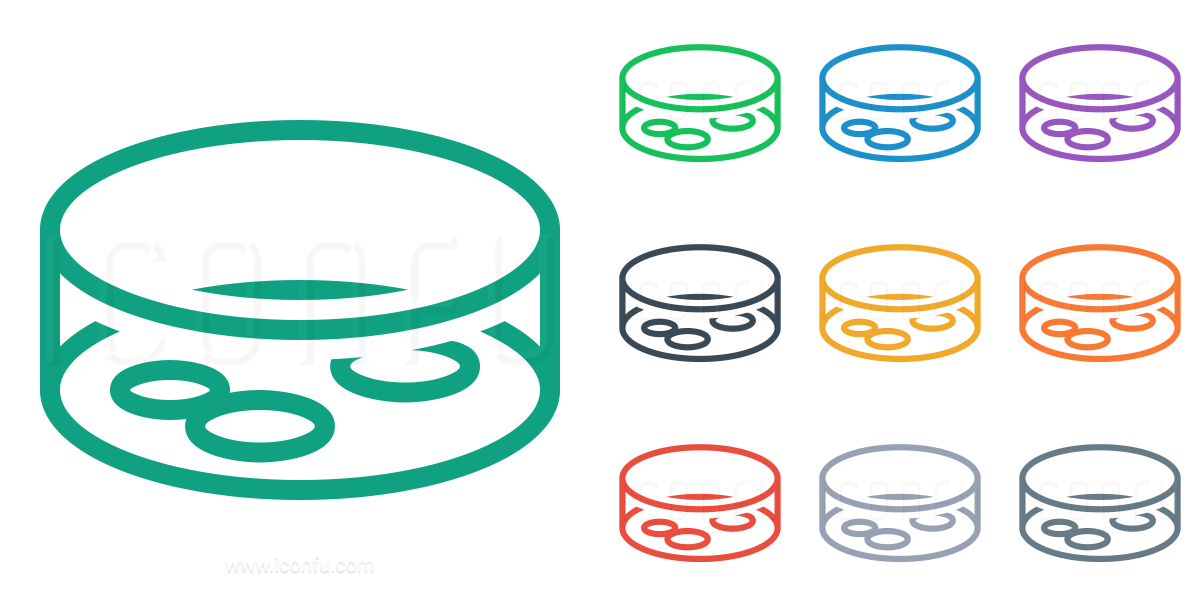 Bacteria clipart petri dish. Icon line style iconfu