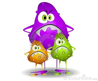 Bacteria clipart viral infection. Viruses clipground germs stock
