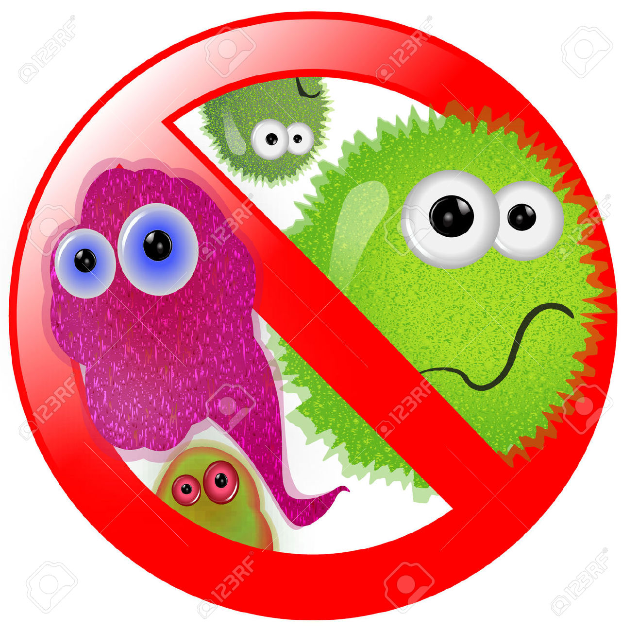 Art germs and clipartpost. Bacteria clipart virus